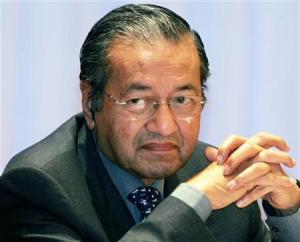 FORMER MALAYSIAN PRIME MINISTER MAHATIR ATTENDS CONFERENCE IN TOKYO.